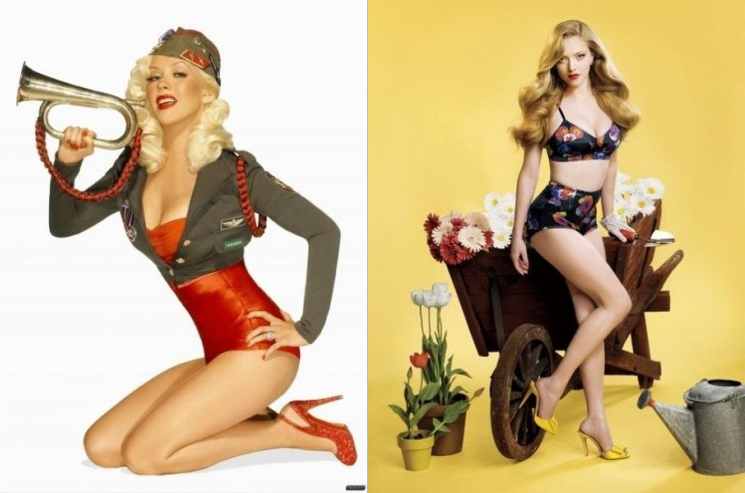 Salon Buzz_Christina Aguilera Amanda Seyfried_Pinup Model