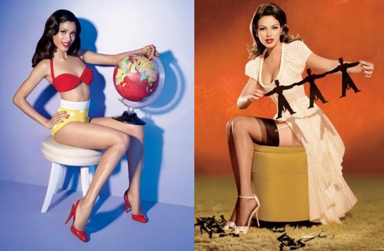 Salon Buzz_Frieda Pinto Mila Kunis_Pinup Models