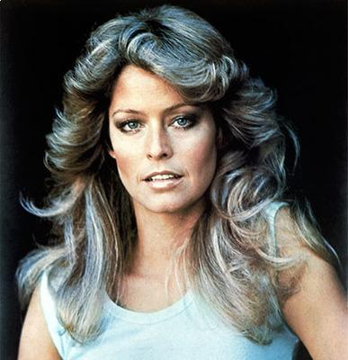 Farrah Fawcett Feather With Flair