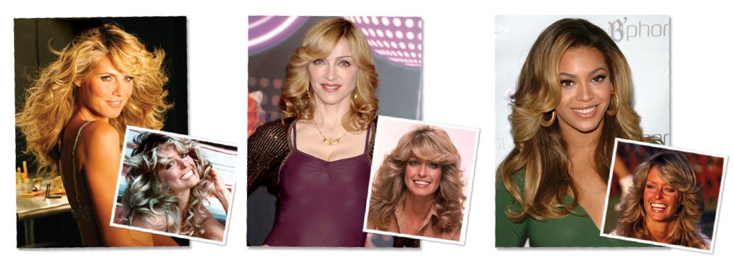 Salon Buzz_Heidi Klum Beyonce Madonna Farrah Fawcett Hairstyle Shag