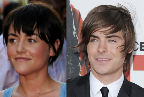 Salon Buzz_Jaime Winstone Zac Efron moptop hairstyle
