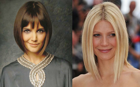 Angled Bob_Katie Holmes_Gwyneth Paltrow_Salon Buzz