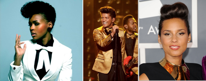 Pompadour Hairstyles_Janelle Monae Bruno Mars Alicia Keys_Salon Buzz Stay Gorgeous