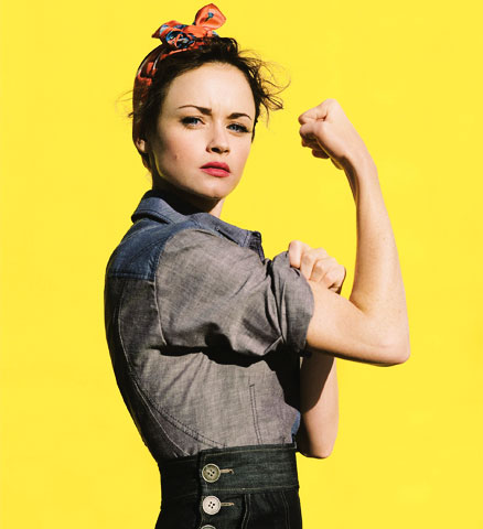 Rosie the Riveter Alexis Bledel_Salon Buzz Stay Gorgeous