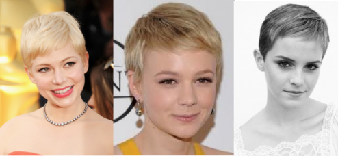Pixie Cut Michelle Williams Carey Mulligan Emma Watson