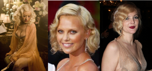 Christina Aguilera Charlize Theron Drew Barrymore Jean Harlow hair_Salon Buzz Stay Gorgeous