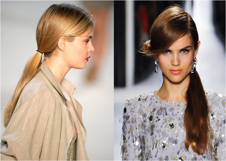 ponytails on runway_Salon Buzz Stay Gorgeous