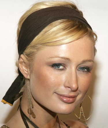 Paris Hilton headband scarf fall hair_Salon Buzz Stay Gorgeous