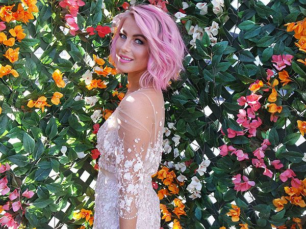 Juliane Hough Pink Hair