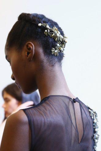 Alberta Ferretti Gold Wavy Hair