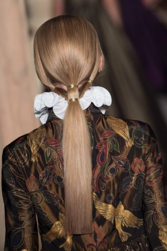 Valentino Gold pony tail