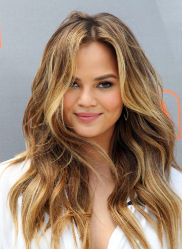 Chrissy Teigen Beach Waves